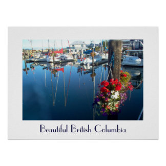 Flowers at the Port - British Columbia Poster