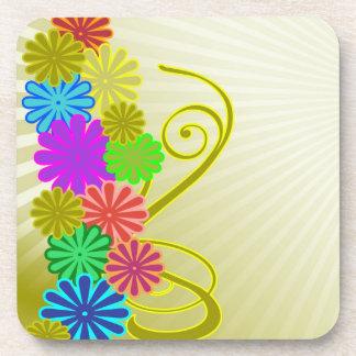 flowers background Cork Coaster