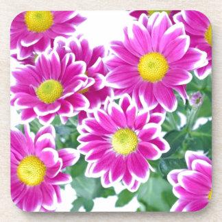 Flowers Beverage Coasters