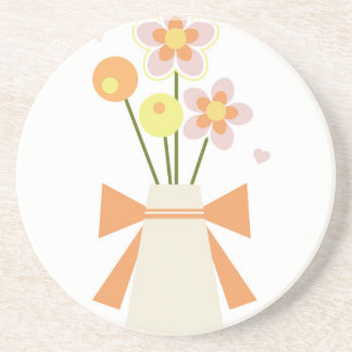 flowers beverage coasters