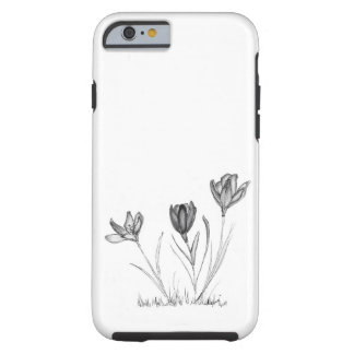 Flowers: Blooming February Crocus Tough iPhone 6 Case