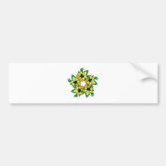 Flowers blooms wreath flowers bare OM wreath Bumper Stickers