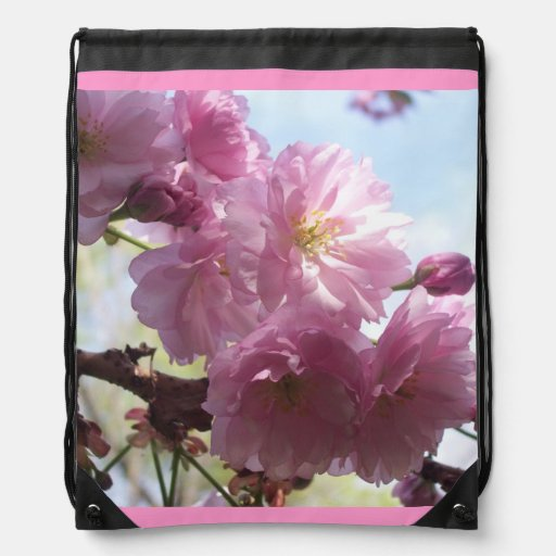 Flowers Blossoms Flowers Almond Branches Drawstring Backpack