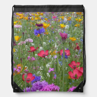 Flowers Blossoms Flowers Spring Pattern Cinch Bags