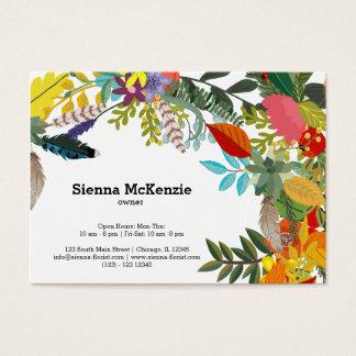 Flowers bouquet business card