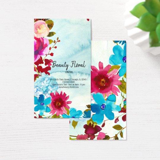 Flowers Bouquet Florist Business Card