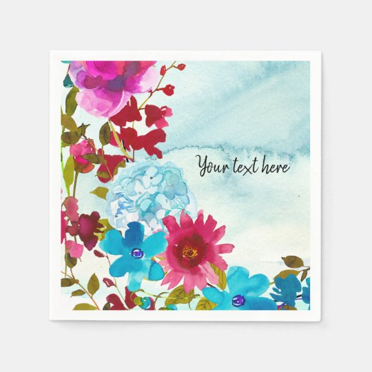 Flowers bouquet for all occassions disposable napkin