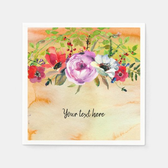 Flowers bouquet for all occassions disposable serviette