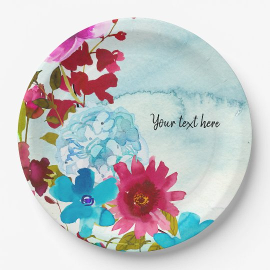 Flowers bouquet for all occassions paper plate