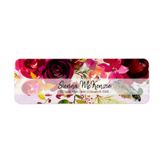Flowers bouquet for all occassions return address label