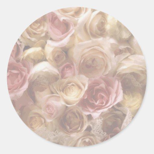 Flowers Bouquet Wedding Invitations Envelope Seals Round Stickers