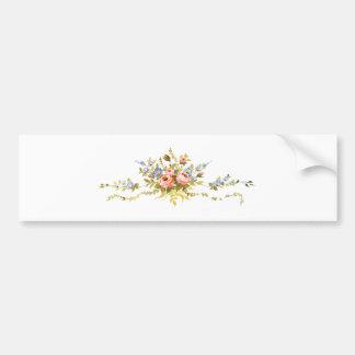 flowers brush rococo painting romantic elegant vin bumper sticker