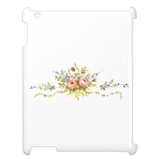 flowers brush rococo painting romantic elegant vin case for the iPad 2 3 4