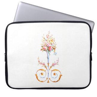 flowers brush rococo painting romantic elegant vin laptop sleeve