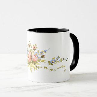 flowers brush rococo painting romantic elegant vin mug