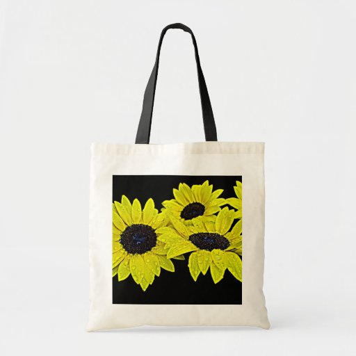 Flowers Budget Tote Canvas Bags