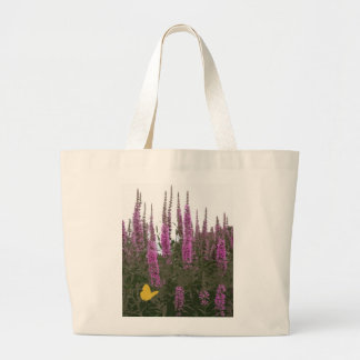 Flowers & Butterfly Jumbo Tote Bag