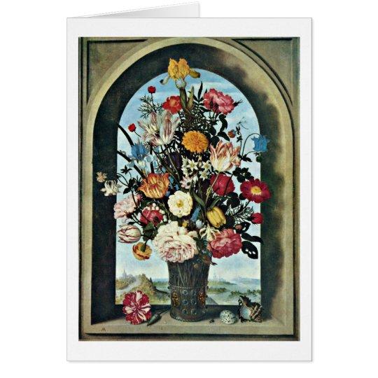 Flowers By Ambrosius Bosschaert The Elder Card