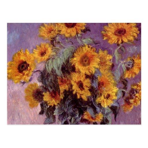 Flowers by Claude Monet Postcard