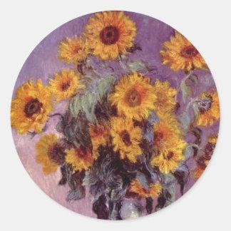 Flowers by Claude Monet Sticker