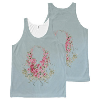 Flowers CHANGE COLOR / Unisex - All-Over Print Singlet