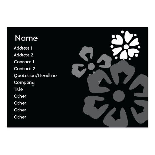 Flowers - Chubby Business Card Templates