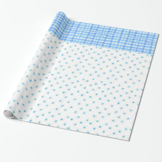 """flowers & ckeckered- Glossy Wrapping Paper, 30""""x6' Wrapping Paper"""