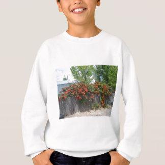 Flowers Climbing Fence Sweatshirt