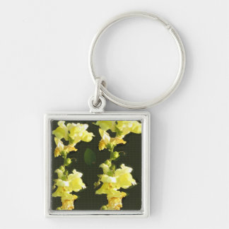 Flowers Colorful return+gifts giveaway party gifts Silver-Colored Square Key Ring