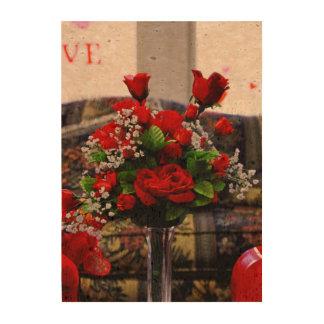 Flowers cork print cork paper