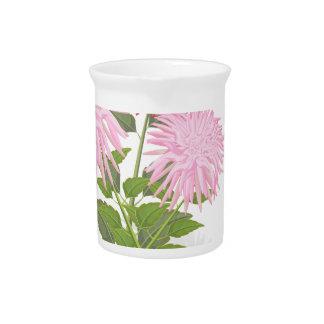 Flowers Dahlias in a vase Pitcher