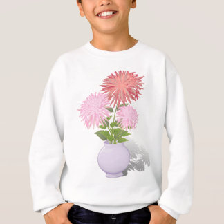 Flowers Dahlias in a vase Sweatshirt