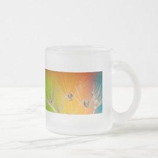 Flowers Dandelion Wedding Shower Love Painting Frosted Glass Coffee Mug