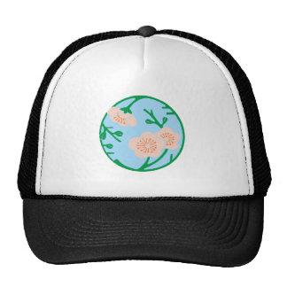 Flowers disk of flower disk trucker hat