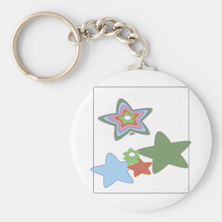 flowers-easter basic round button key ring