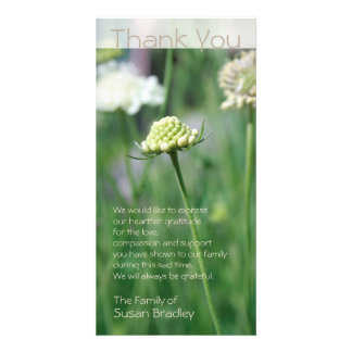 Flowers Fields Floral Photo Sympathy Thank You Photo Greeting Card