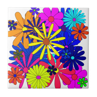 Flowers Floral Pattern Colorful Tiles