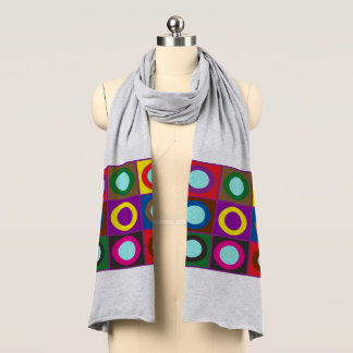 Flowers floral pattern nature scarf