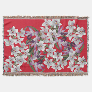 Flowers Floral Tropical Orchids Island Throw