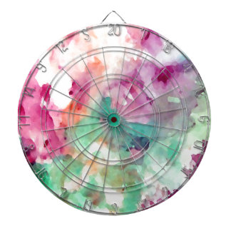 Flowers Floral Watercolor Pretty Mom Gifts Dartboard With Darts