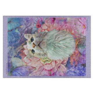 """Flowers & Flutterbys 11.5""""x 8"""" Cutting Board"""