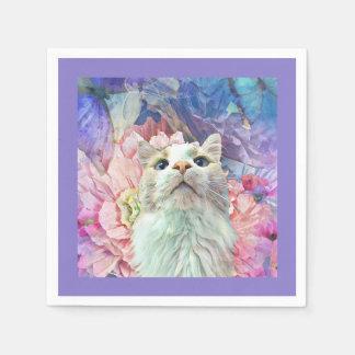 Flowers & Flutterbys Paper Napkins Paper Napkin