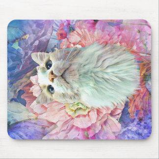 Flowers & Flutterbys Rectangular Mouse Pad