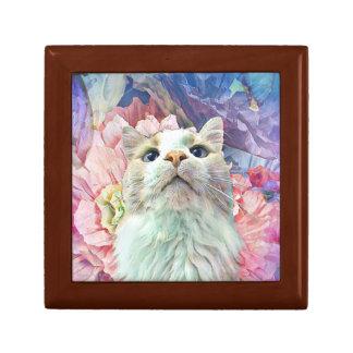 Flowers & Flutterbys Tile Top Gift/Trinket Box