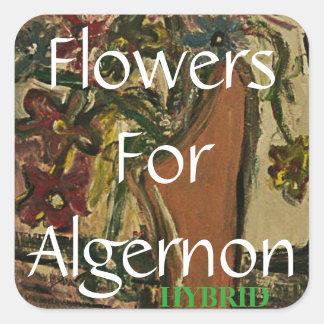Flowers For Algernon HYBRID Square Sticker