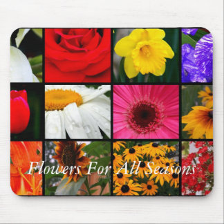 Flowers For All Seasons Mouse Pads