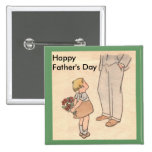 Flowers for Dad Pinback Buttons