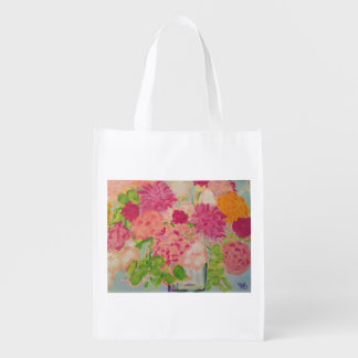 Flowers for Mary Ann Reusable Grocery Bag