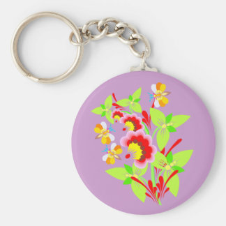 Flowers For Mom Basic Round Button Key Ring