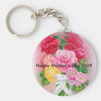 Flowers for Mother s Day Keychain